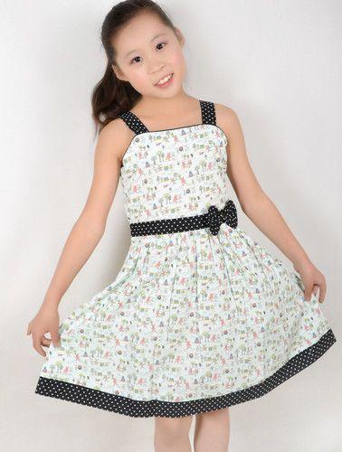 New Girls Dress Animal Print Dot School Uniform Child Clothes Size 4-12