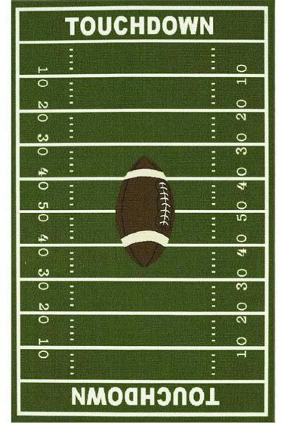 Dalyn Rug All Stars Football Ground Kids Rug Construction: woven-printed  Color: green Content: nylon Country: Egypt
