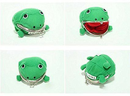 Naruto Cute Green Frog Coin Bag Cosplay Props Plush Toy Purse Wallet Funny Gift Buy Now