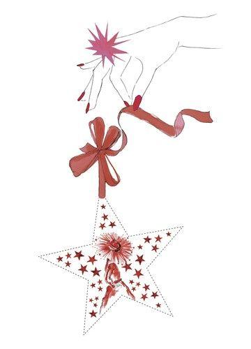 Exklusiv für ELLE hat die Illustratorin Iris Olschewski von Fleur d'Iris diese weihnachtlichen Geschenkanhänger zum Ausdrucken entworfen. Denn erst ein paar liebevolle Worte auf dem Anhänger geben jedem Geschenk die persönliche Note.