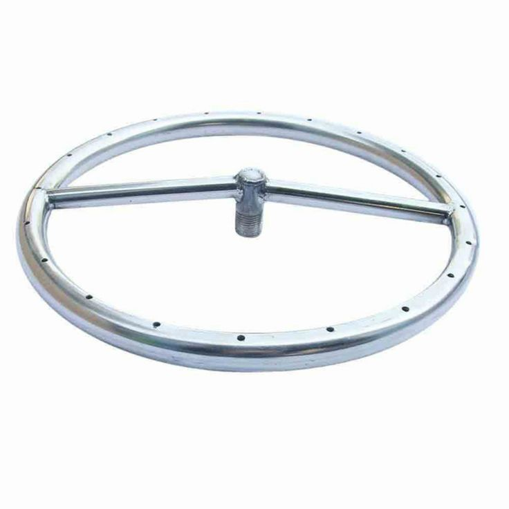 Tretco 12 in. Stainless Steel Fire Pit Ring - OBRSS-12R