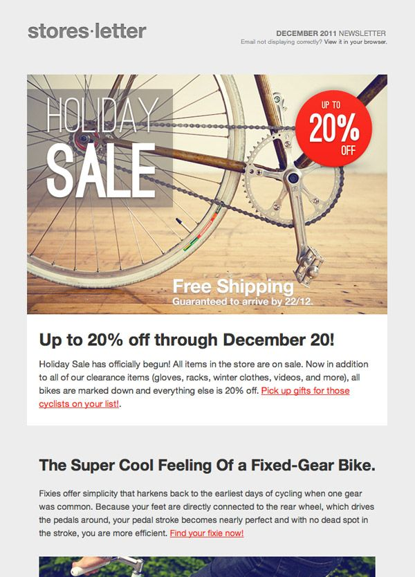 sale email template