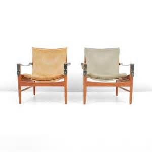 hans olsen leather safari lounge chair. pair of hans olsen \ leather safari lounge chair n