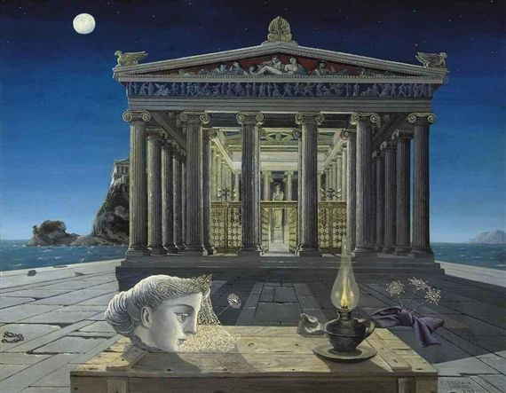 Paul Delvaux. Le Temple.