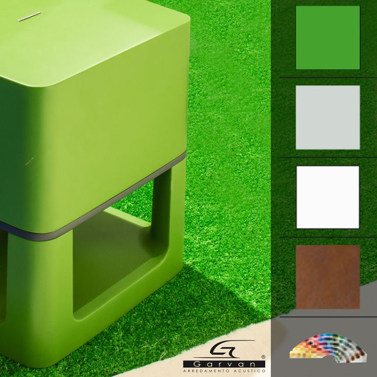 Diffusore da esterno giardino Garvan SA 210 (colori disponibili: standard verde, grigio, bianco; su richiesta effetto corten e tutti i colori RAL)  Garden outdoor speaker Garvan SA210 (colours: green, grey, white; on request corten effect and all RAL colours).