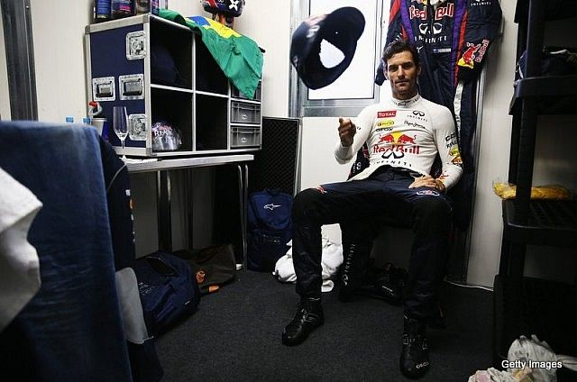 Mark Webber drove out of Formula 1 with the wind in his hair, a smile on his face and Red Bull overalls soaked in champagne after one final podium celebration at the season-ending Brazilian Grand Prix on Sunday. The Australian finished runner-up, equalling his best result of a year dominated by race winner and quadruple [�c]