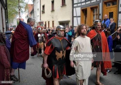06-27 BENSHEIM, GERMANY - APRIL 14: Jesus Christ, played by... #bensheim: 06-27 BENSHEIM, GERMANY - APRIL 14: Jesus Christ,… #bensheim