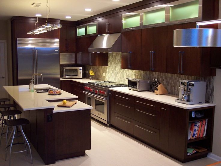 How To Paint Veneer Kitchen Cabinets Veneer Kitchen Cabinets With Dark Brown Paint Colors And Light