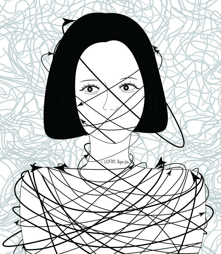 일러스트/관계의 끈(얽혀버린 관계의 끈은 자유를 억압한다) illust,illustration,graphic,drawing,doodle,adobe,일러스트,일러스트레이션,그래픽,그래픽일러스트,그래픽일러스트레이션.낙서,드로잉,펜