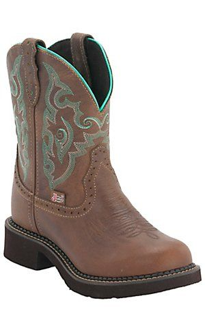 Justin® Gypsy™ Womens Tan Jaguar Round Toe Western Boots | Cavenders Boot City