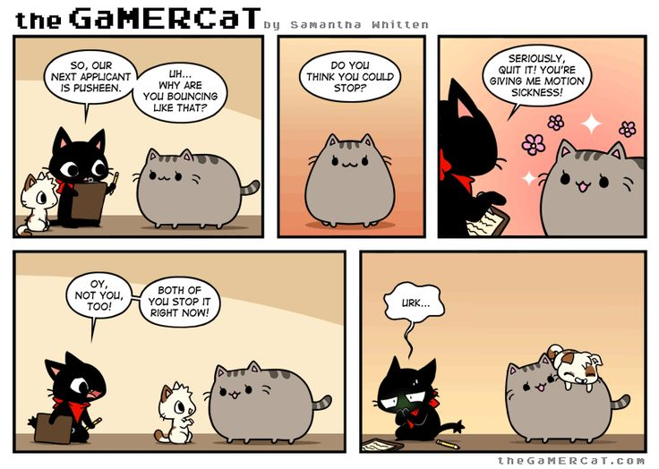 Bouncer--this has to be one of my favorite Gamercat comics thus far X3