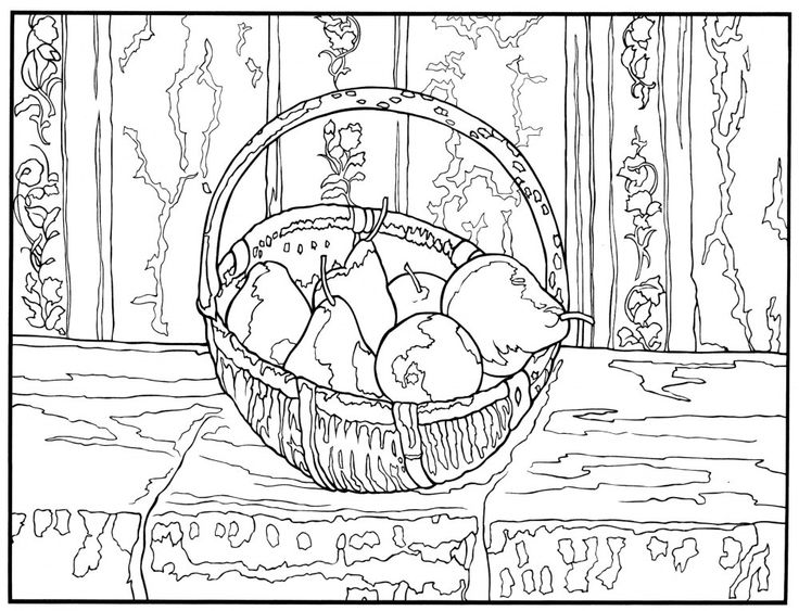Impressionism pages coloring pages for Impressionist coloring pages
