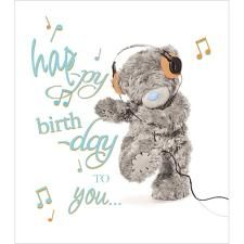 Happy Birthday To You Music Notes Me to You Bear Card