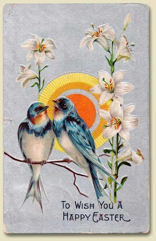 Анимационные днем, винтажные открытки о весне