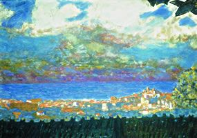 Pierre Bonnard, Ciel d'orage sur Cannes, 1945, 51 x 75 cm, collection particulière