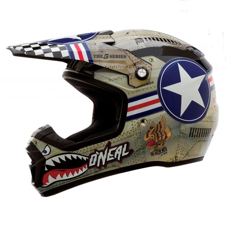 2015 Oneal 5 Series Wingman Mx Dirt Bike Off-Road ATV Quad Gear Motocross Helmet