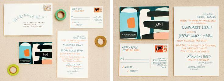 Modern art Invitation  design by antiquaria design studio