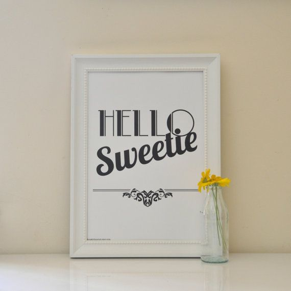 Hello Sweetie Print   River Song from Dr Who by shopgirlinprint, $15.00