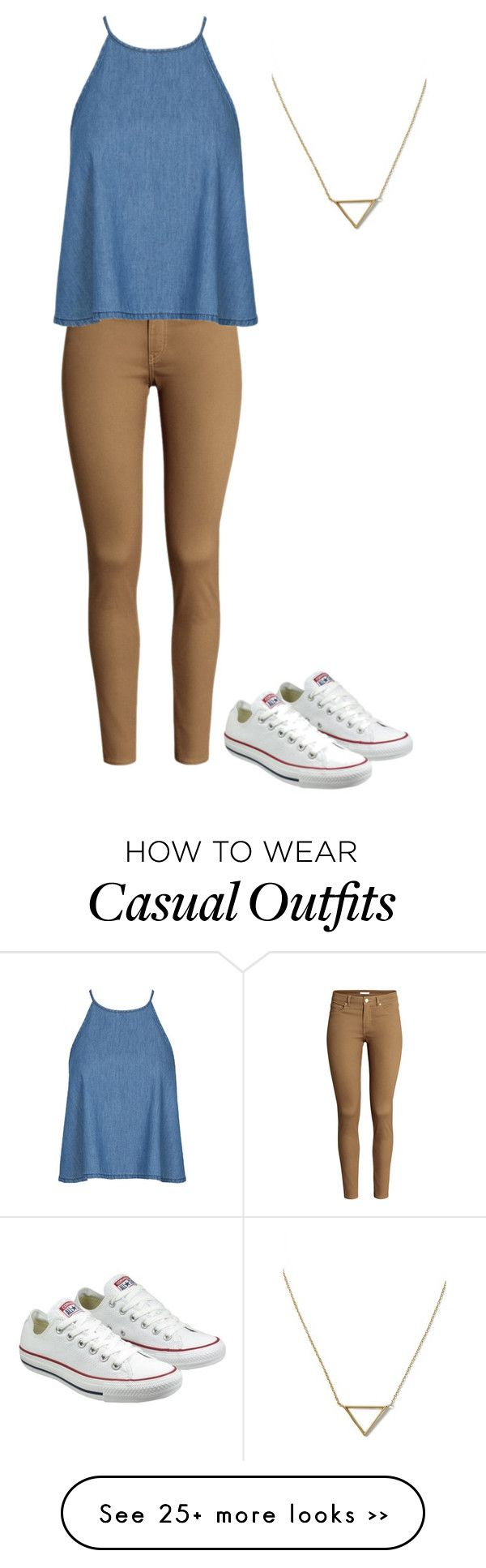 """Casual Friday"" by haleyl9902 on Polyvore featuring H&M, Converse and Banana Republic"