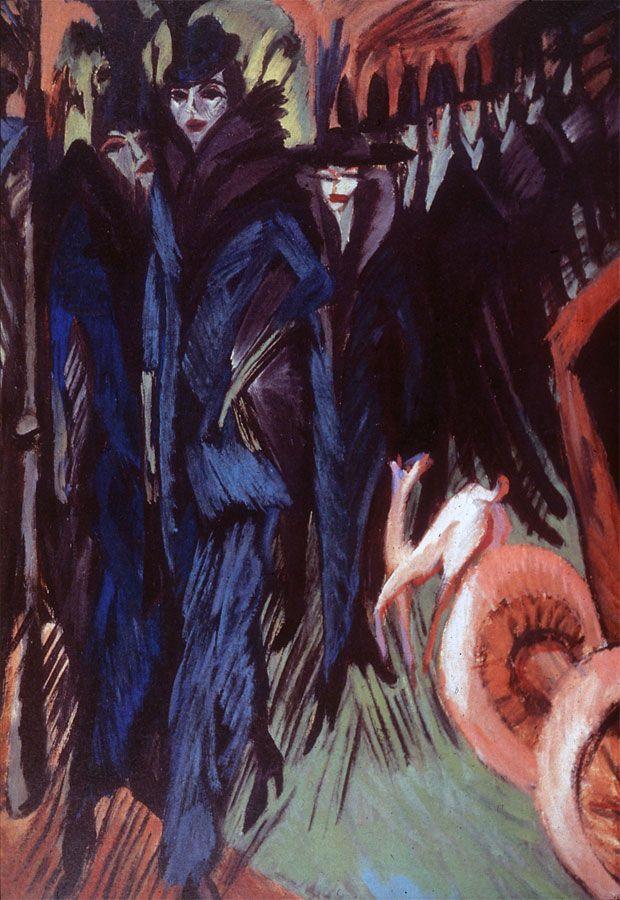 Kirchner - Scène de rue (1914)