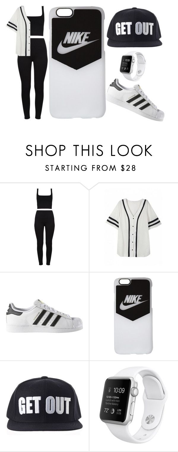 """""""#GET OUT!!!!"""" by juanabennett ❤ liked on Polyvore featuring adidas and NIKE"""