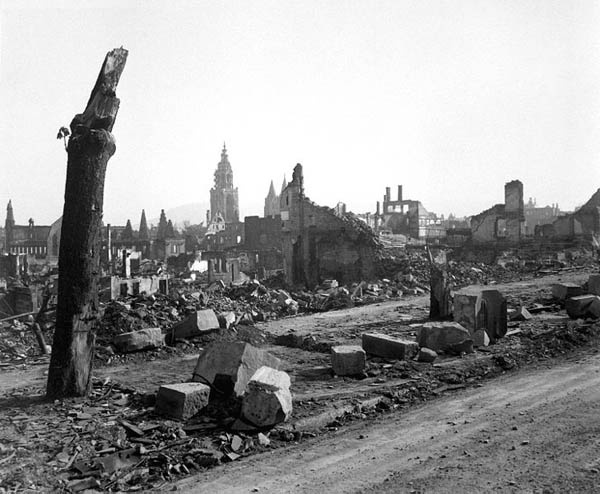 Heilbronn, Germany.  Circa April 1945                                                                                                                                                                                 More