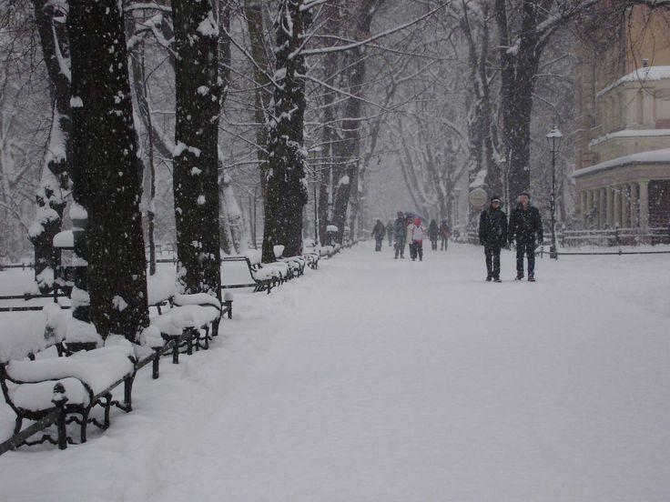 Krakow planty in the snow....