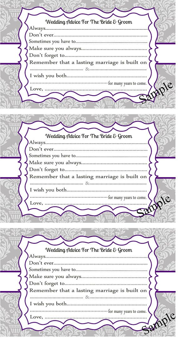 ideas about wedding advice cards on pinterest bridal shower advice