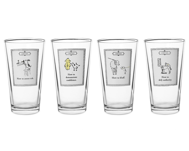 A DOG'S TALE GLASSES - CHAPTER 1   Dog Glasses, Chapter One, Dog's Tale, Alpha Dog, Made in the USA   UncommonGoods