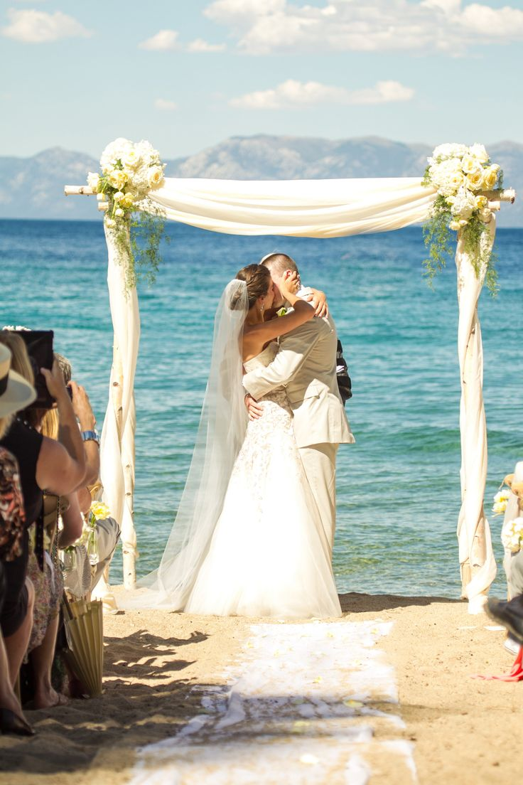 Lake Tahoe ceremony | Photography: Mike Larson - mikelarson.com  Read More: http://www.stylemepretty.com/california-weddings/2014/10/06/tuscan-inspired-lake-tahoe-wedding/