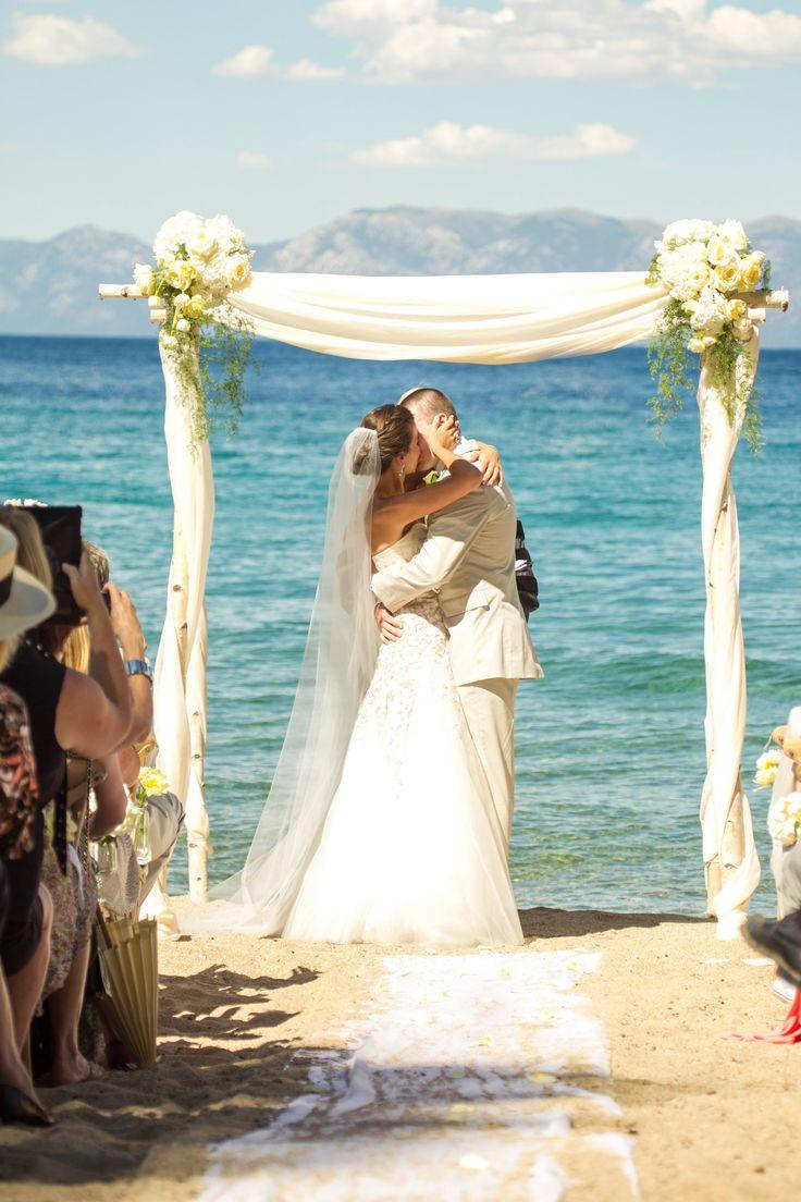 Lake Tahoe ceremony | Photography: Mike Larson - mikelarson.com  Read More: http://www.stylemepretty.com/california-weddings/2014/10/06/tuscan-inspired-lake-tahoe-wedding/