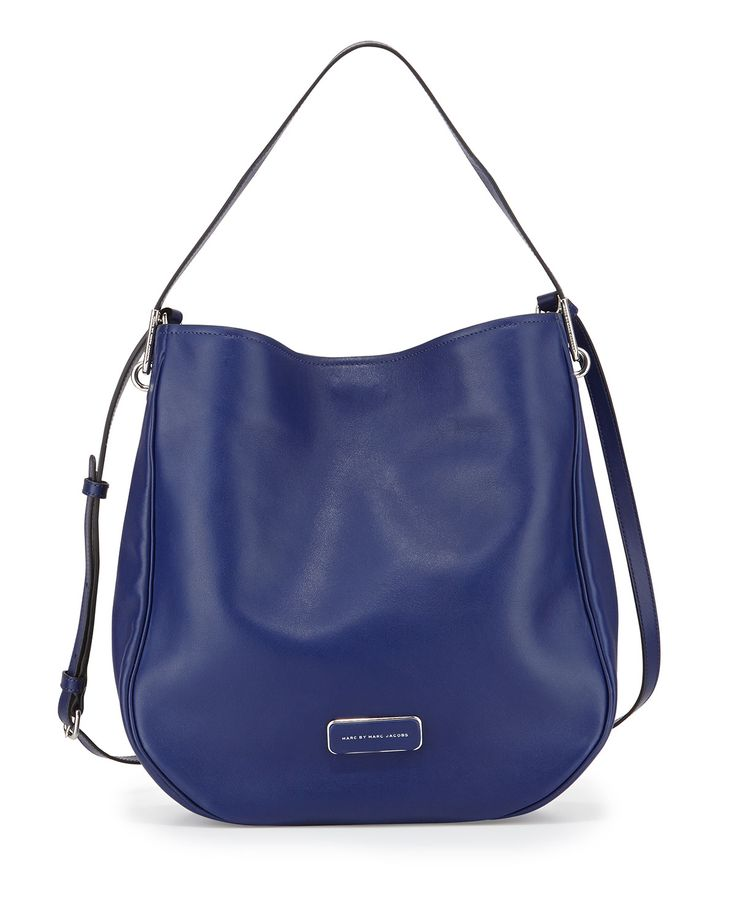 MARC by Marc Jacobs Ligero Leather Hobo Bag, Mineral Blue