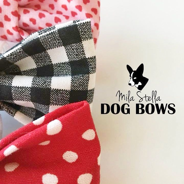 Valentines Day Dog Bows that slide on to your dog's collar ❤️