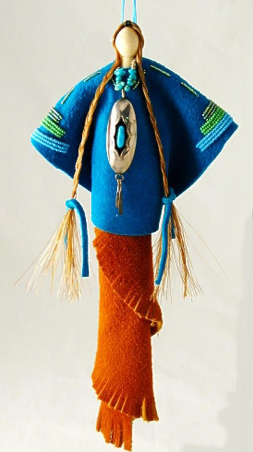 Native American art doll