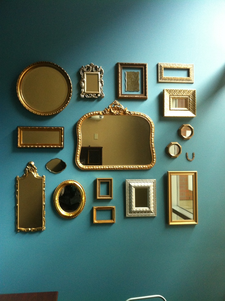Great mirror collage@ Ingrid Thelning...another collection.