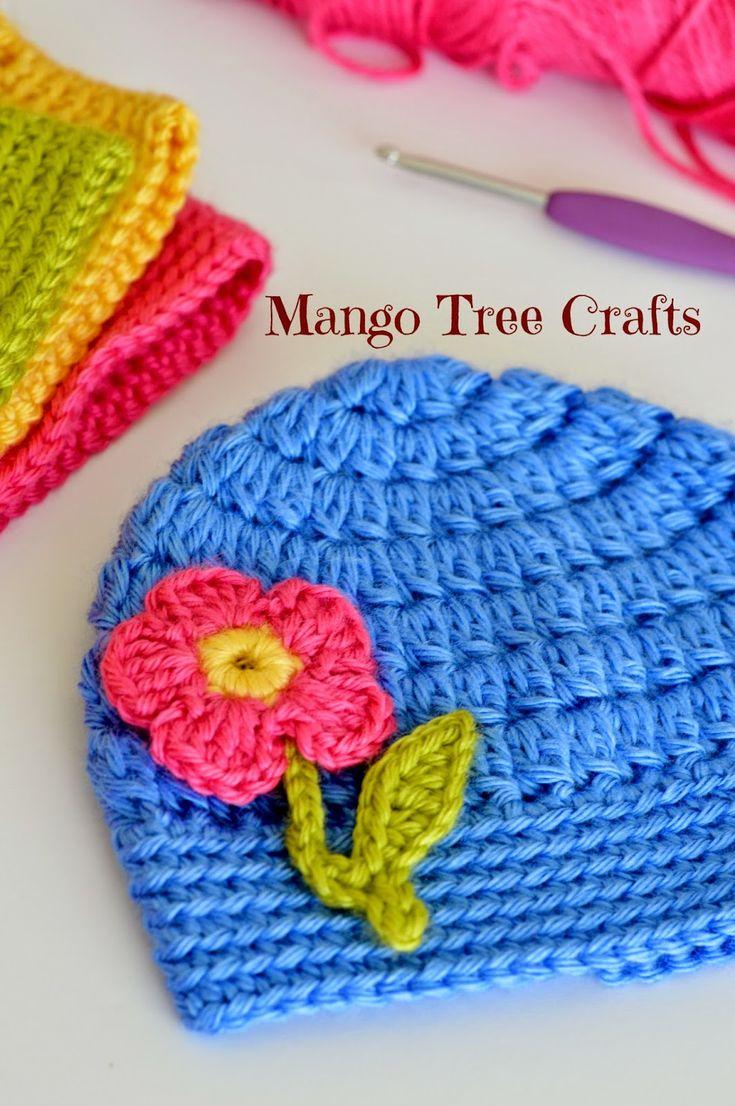 Mango Tree Crafts: Free Crochet Flower Applique Pattern