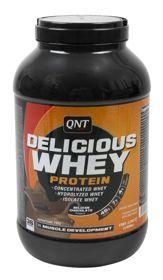 QNT Delicious Whey Protein smak belgijskiej czekolady 2,2 kg. QNT Delicious Whey Protein to smaczna odżywka białkowa stworzona z najlepszej jakości koncentratu białka serwatkowego. Zawiera wszystkie niezbędne aminokwasy, które poprawią twoją wytrzymałość. Bardzo łatwo się trawi i wchłania. #odzywkabialkowa #odzywki #silownia