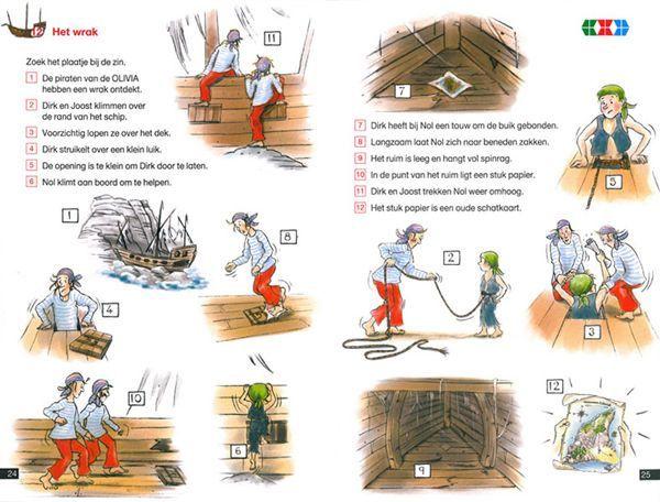 Mini Loco boekje: Begrijpend lezen Verhalen van een Piratenschip Noordhoff - mini loco - educatief op Spelmagazijn