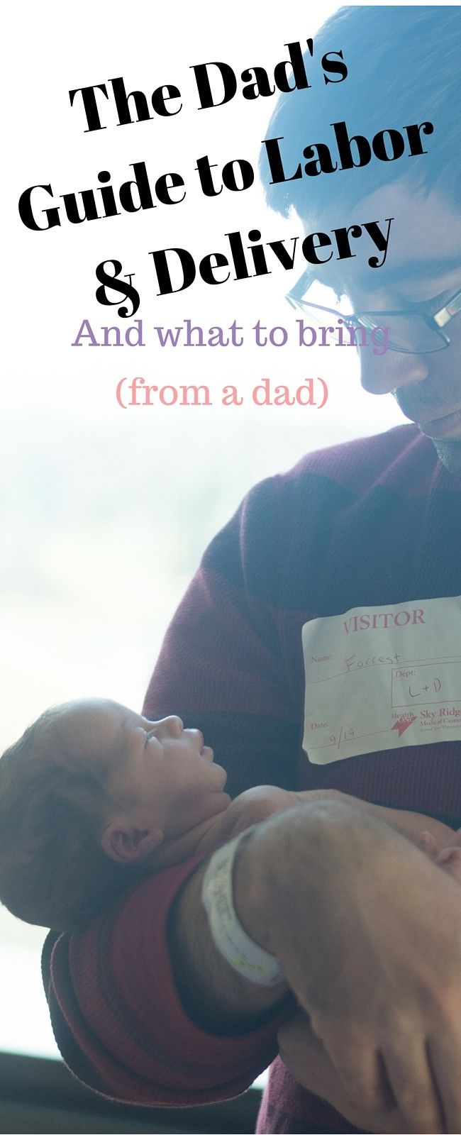 What dads should bring to the hospital, written by a dad! A great no-nonsense list!
