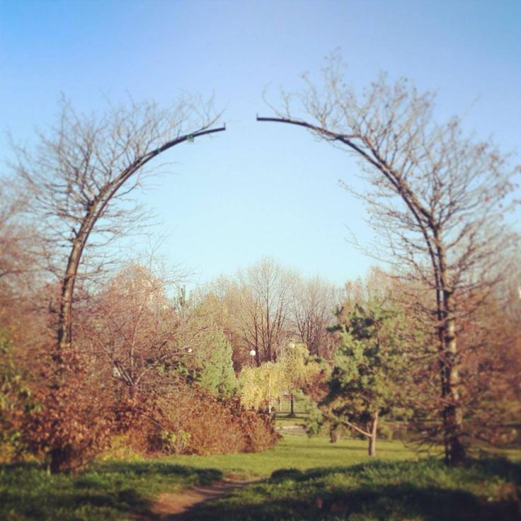 "Autumn in the park: the entrance to ""The Garden of Eden""."
