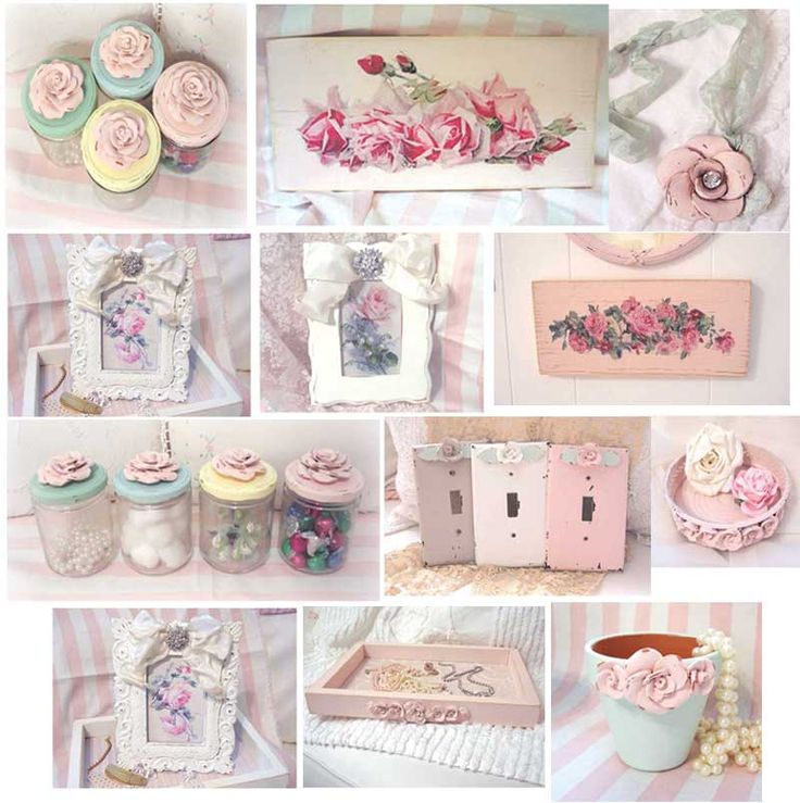 62 best Home Decor: Roses images on Pinterest | Shabby chic ...
