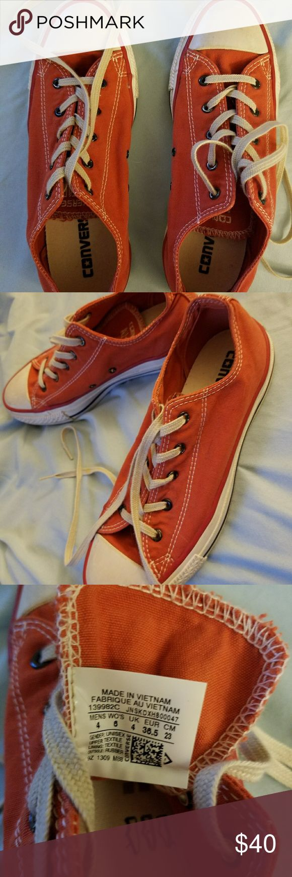 Orange Converse NWOT Burnt Orange converse purchased from Free People. Worn once, perfect condition. Converse Shoes Sneakers