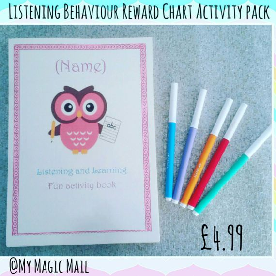 Reward chart reward chart activity pack. by MyMagicMail on Etsy