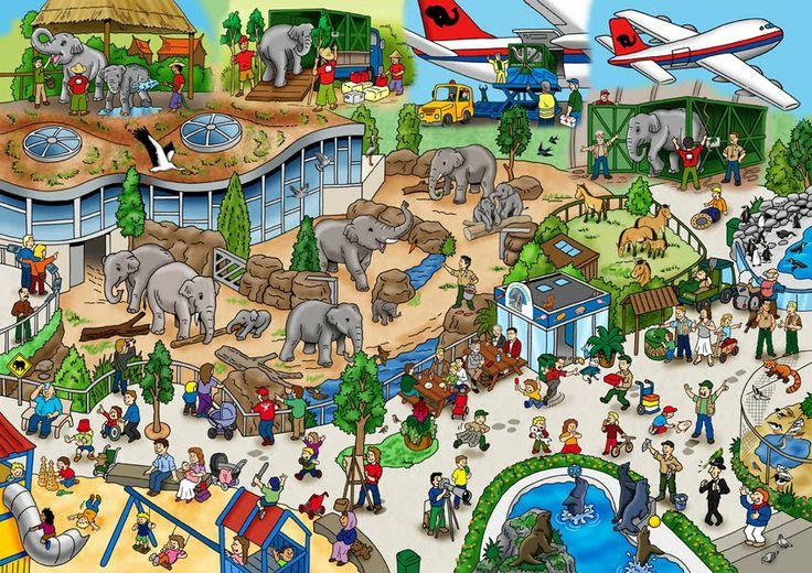 wimmelbild zoo