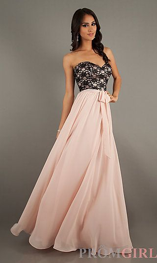 Strapless Lace Embellished Gown by Mori Lee at PromGirl.com #fashion #prom #dresses