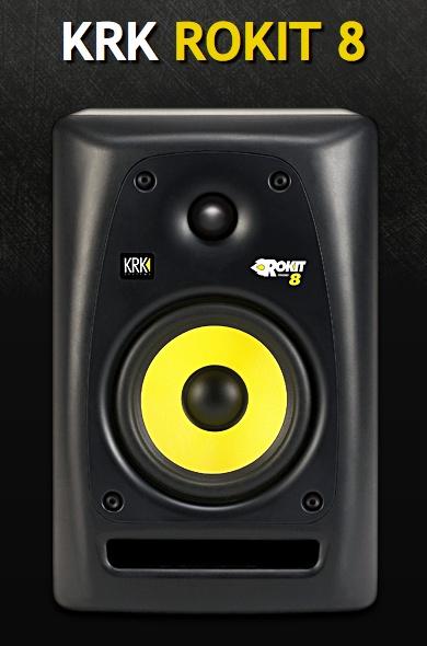 KRK Rokit 8 Studio Monitor Speakers.. mine now! I'm so F-ing blessed! Oh, he loves me.