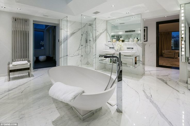 The sprawling 'female bathroom' of the property's master bedroom, which also boasts its own Jacuzzi