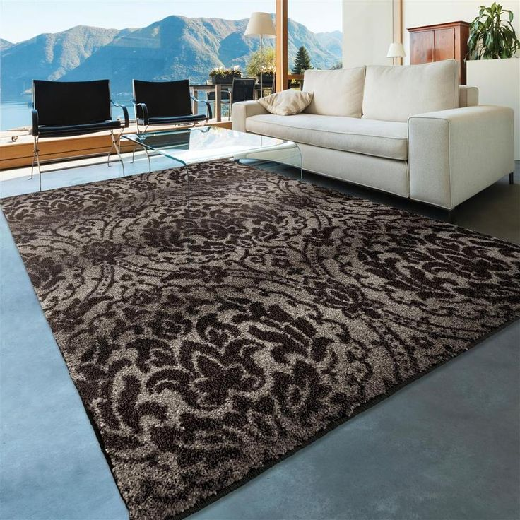 RUGS AREA RUGS CARPET 8x10 AREA RUG LIVING ROOM MODERN LARGE FLORAL GRAY  RUGS ~~