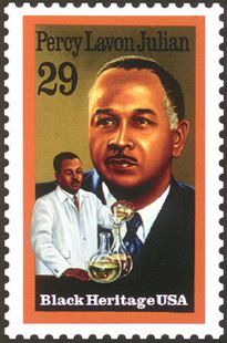 Percy Lavon Julian was a U.S. research chemist and a pioneer in the chemical synthesis of medicinal drugs from plants. Wikipedia