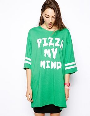 "Giving you a ""Pizza My Mind"": Asos Com, Discover Fashion, Lazy Oaf Summ, Mind Oaf, Fashion Plus Size, Fashion Online, Oaf Pizza, Shops Lazy, Mind T Shirts"